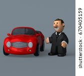 cartoon businessman   3d... | Shutterstock . vector #670405159