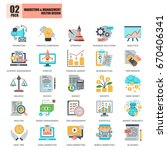 flat conceptual icons pack... | Shutterstock .eps vector #670406341