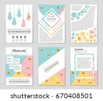 abstract vector layout... | Shutterstock .eps vector #670408501