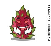 in love dragon fruit character... | Shutterstock .eps vector #670409551