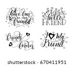 vector lettering set for... | Shutterstock .eps vector #670411951