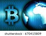 bitcoin news background modern... | Shutterstock . vector #670415809