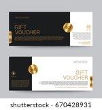 gift voucher template premium...   Shutterstock .eps vector #670428931