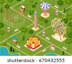 amusement park seamless pattern ... | Shutterstock .eps vector #670432555