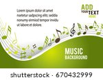 music notes on a color... | Shutterstock .eps vector #670432999