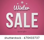 vintage style christmas and... | Shutterstock . vector #670433737