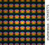 seamless colour spring theme... | Shutterstock .eps vector #670435771