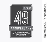 49 years anniversary design... | Shutterstock .eps vector #670438684
