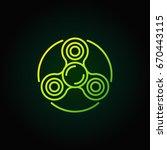 spinner green line icon. vector ... | Shutterstock .eps vector #670443115
