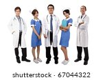 asian medical team .doctors and ... | Shutterstock . vector #67044322