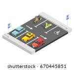 transport isometric composition ... | Shutterstock .eps vector #670445851