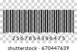barcode icon. vector...   Shutterstock .eps vector #670447639