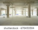 construction site with crane... | Shutterstock . vector #670453504