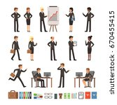 characters design set of... | Shutterstock .eps vector #670455415