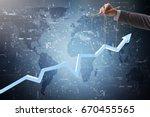 businessman keeping the growth...   Shutterstock . vector #670455565