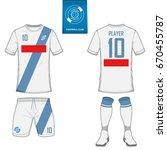 set of short sleeve soccer... | Shutterstock .eps vector #670455787