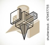3d design  abstract vector... | Shutterstock .eps vector #670457755