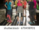 group of women in sportswear | Shutterstock . vector #670458931