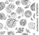 vector illustration sketch  ... | Shutterstock .eps vector #670458994