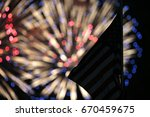 the stars and stripes wave... | Shutterstock . vector #670459675
