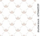 seamless pattern with crown... | Shutterstock .eps vector #670460539