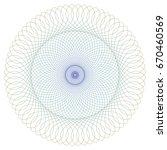 round guilloche pattern for... | Shutterstock .eps vector #670460569