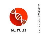 dna red  sign logo emblem icon    Shutterstock .eps vector #670460695