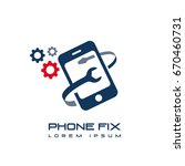 phone fix repair icon logo... | Shutterstock .eps vector #670460731