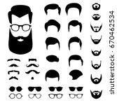 creation vector set for hipster ... | Shutterstock .eps vector #670462534