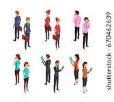 man and woman businessman.... | Shutterstock .eps vector #670462639