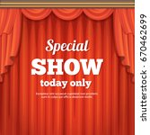poster with theater stage and... | Shutterstock .eps vector #670462699