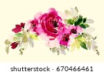 flower watercolor composition... | Shutterstock . vector #670466461
