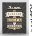 vintage inspirational and... | Shutterstock .eps vector #670472431