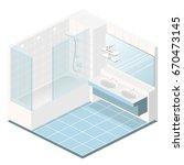 isometric flat 3d concept... | Shutterstock .eps vector #670473145