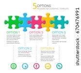 five options modern infographic ... | Shutterstock .eps vector #670476991