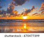 sea sunrise in koh samui island ... | Shutterstock . vector #670477399