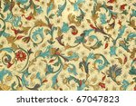 antique floral decorative paper - stock photo