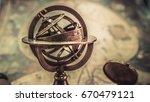 Vintage Armillary Astrological...