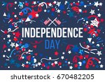 4th july usa independence day... | Shutterstock .eps vector #670482205