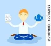 the concept of transaction.... | Shutterstock .eps vector #670483591