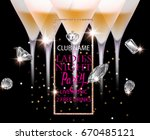 ladies night party banner with... | Shutterstock .eps vector #670485121