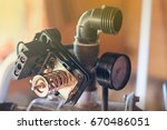 water supply system. hydraulic... | Shutterstock . vector #670486051