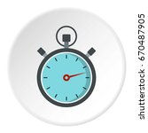 gray stopwatch icon in flat... | Shutterstock .eps vector #670487905