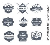 winter sport   vector set of... | Shutterstock .eps vector #670498234