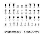 drink glasses with titles ... | Shutterstock . vector #670500991