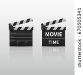 movie clapperboard or film... | Shutterstock .eps vector #670505341