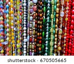 hanging beads necklaces close... | Shutterstock . vector #670505665