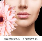 beautiful female lips with... | Shutterstock . vector #670509511