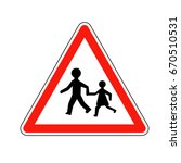 france children sign | Shutterstock .eps vector #670510531