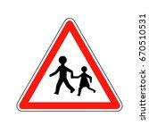 france children sign | Shutterstock .eps vector #670510531